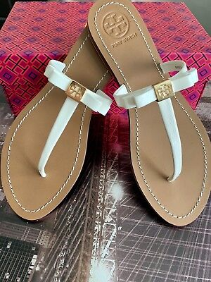 f5be83eb7d9 TORY BURCH  LEIGHANNE  Thong Sandal Turquoise Bow Shoe Flip Flop ...