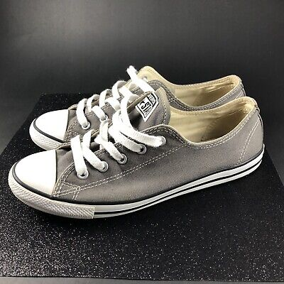 3a15e9113024 Converse All Star Chuck Taylor Low Top Womens Grey Fashion Sneakers Size 7