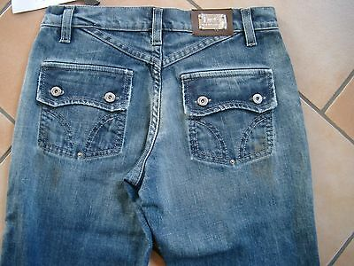 (C289) Dolce & Gabbana Girls Hose dirty used look Jeans mit Logo Plakette gr.140