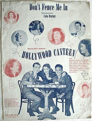 Don't Fence Me In - Aus Film Hollywood Canteen - Cole Porter - Musiknote 1954
