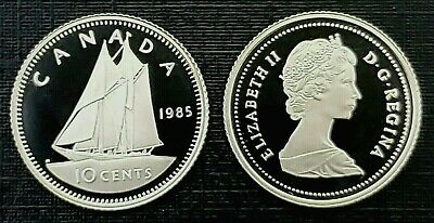 Canada 1985 Proof Gem UNC Ten Cent Piece!!