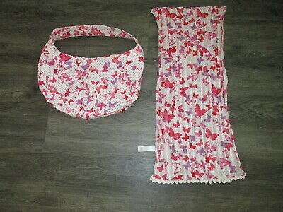 Girls Monsoon Bag And Scarf Set Butterfly Print Vgc