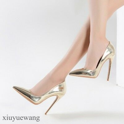 Womens High Heel Stiletto Patent Leather Sexy Nightclub Shoes Pointy toe Pumps