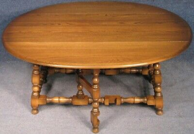 Ercol Elm And Beech Old Colonial Drop Leaf Coffee Table In Golden Dawn No 2