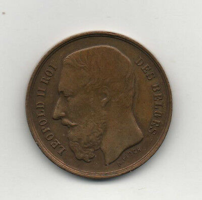 Belgium Bruxelles 1888 Exhibition medallion  King Leopold rare rarity
