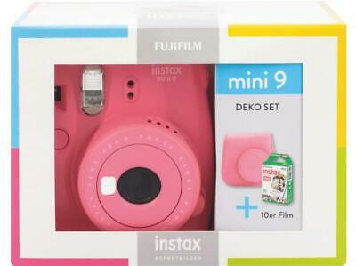 FUJIFILM Instax Mini 9 Travel Set Sofortbildkamera Flamingo Pink