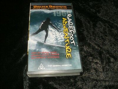 Surfing Barefoot Adventure Vhs Video Pal~ A Rare Find~