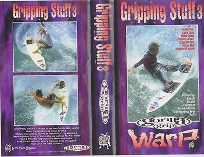 Surfing Gripping Stuff 3 Vhs Video Pal~ Rare Find