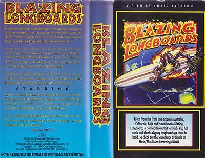 Surfing Blazing Longboards Vhs Video Pal~ A Rare Find