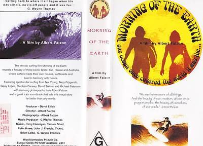 Surfing Morning Of The Earth Vhs Video Pal~ Rare Find