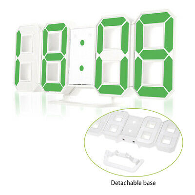 USB Large 3D Modern Digital LED Table Night Wall Clock 24/12 Hour Timer Alarm UK