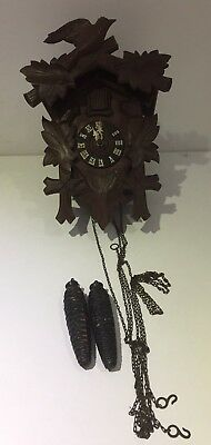 Antique Vintage German Cuckoo Clock Black Forest Parts Restoration Project H13