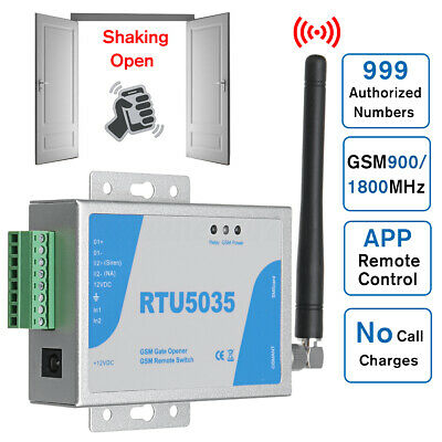 RTU5035 GSM Door Gate Opener Remote Switch Free Call SMS Text Command Shaking