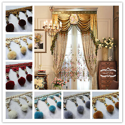 DIY Curtain Plush Ball Cord Tassel Beaded Fringe/Trim Sewing/Costume wholesale