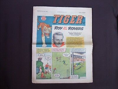 """Old Tiger Comic """"Roy of the Rovers"""" written by Bobby Charlton 2 Sept 1961"""