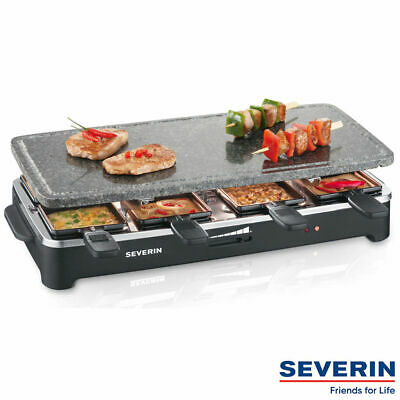 SEVERIN Raclette-Partygrill mit Naturgrillstein RG 2343 Raclettegrill Grill