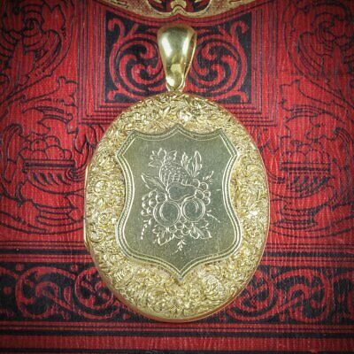 Antique Victorian Fruit Locket 18ct Gold Silver Circa 1880