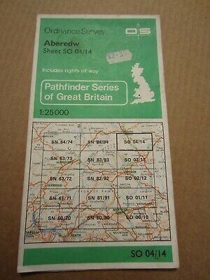 OS map Pathfinder Aberedw  SO 04/14 1:25 000 4cm - 1 km Wales Builth Wells