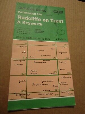 OS map Pathfinder Radcliffe on Trent Keyworth Notts 834 1:25 000 4cm - 1 km