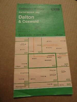 OS map Pathfinder Dalton Coxwold North York Moors 642 1:25 000 4cm - 1 km