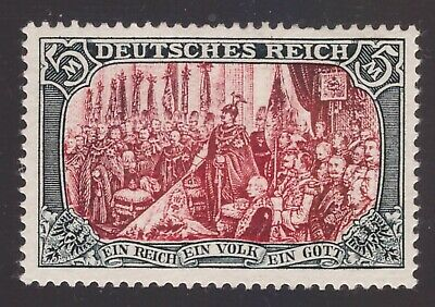 Germany 1902, 5 mark without wmk perf. 26:17 nh mint (cert. Buhler)      -CE51