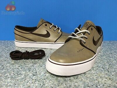 Nike SB Zoom Stefan Janoski OG Mens Size 10 Khaki Boulder Brown Leather 833603