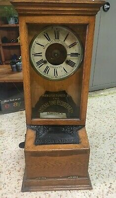 Vintage NATIONAL TIME RECORDER CO LTD London Clocking In Machine *Key - S68