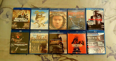 Pre-owned 10 Blu-Ray Movies Lot