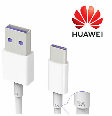 5A Genuine Huawei P30 Pro 20 10 Mate 20 10 9 Fast Type C USB Charger Cable Lead