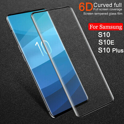 For Samsung Galaxy S10 S10E S10 Plus Full Cover Screen Tempered Glass Protector