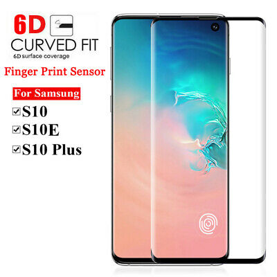 Samsung Galaxy S10/S10+/S10e Full Cover 6D Clear Tempered Glass Screen Protector