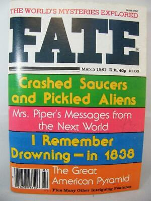 Fate Magazine - March 1981 - UFO Ghosts Paranormal Digest