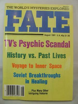 Fate Magazine - August 1981 - UFO Ghosts Paranormal Digest
