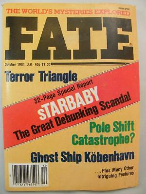 Fate Magazine - October 1981 - UFO Ghosts Paranormal Digest