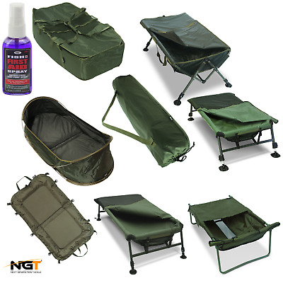 Ngt Carp Fishing Cradles Mats Full Range Euro Pop Up Soft / Fish Aid Care Spray