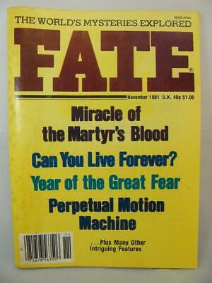 Fate Magazine - November 1981 - UFO Ghosts Paranormal Digest