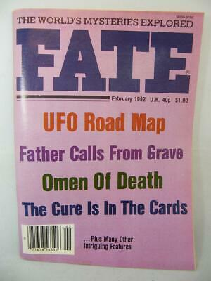 Fate Magazine - February 1982 - UFO Ghosts Paranormal Digest