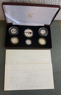 2006 Sterling Silver Proof Piedfort Collection 6-Coin Box Set Inc Brunel + VC