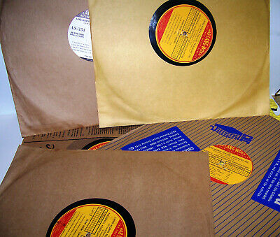 """Vintage NAB Lang Worth 1940's 16"""" Transcription Records - Over 80 Years Old"""