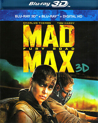 COMBO Blu Ray 3D + 2D Mad Max : Fury Road (Tom Hardy, Charlize Theron) NEUF