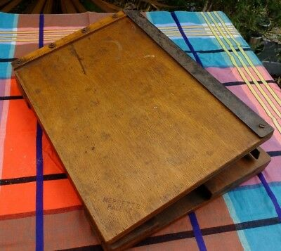 Vintage Shabby Old Guillotine Paper Cutter - Interesting Design
