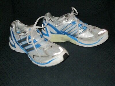 970d4e73e34c1 Adidas Supernova Sequence Women s Running Shoes Size 9 White Blue Silver  VGUC