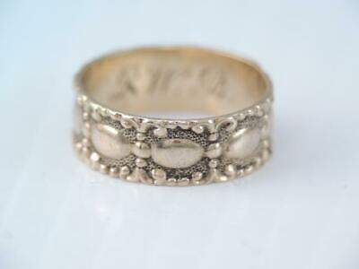 Antique Victorian Solid 10K Rose Gold Wide Childs Baby Band Ring Ornate