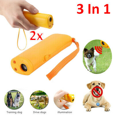 9V Ultrasonic Anti Stop Barking Pet Dog Train Repeller Ctr Trainer Device Puppy