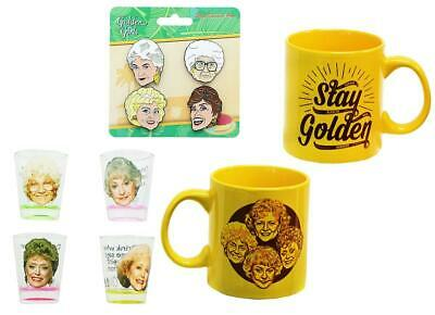 the golden girls pins and shot glasses