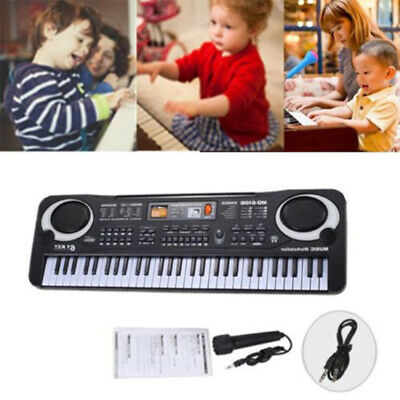 Quality 61 Key Digital Electronic Keyboard & Microphone Electric  Piano for Kids