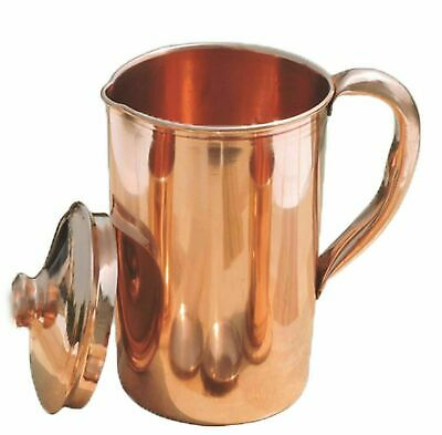 Pure Copper Smooth Water Jug/Copper Pitcher for Ayurveda Health Benefit