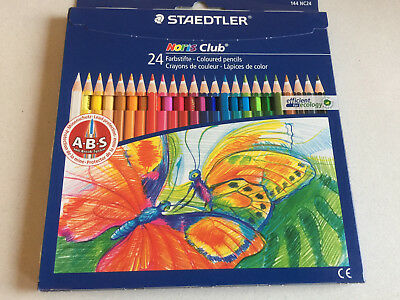 BRAND NEW Staedtler Noris Club 144 NC24 Colouring Pencils - Assorted Colours