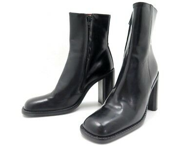 10378ae3a374ed Chaussures Free Lance Bottines A Talons 35 En Cuir Noir Leather Boot Shoes  400€