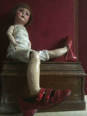 Antique/Vintage Womens/Girls Film Prop/ Period Theatre Red Shoes